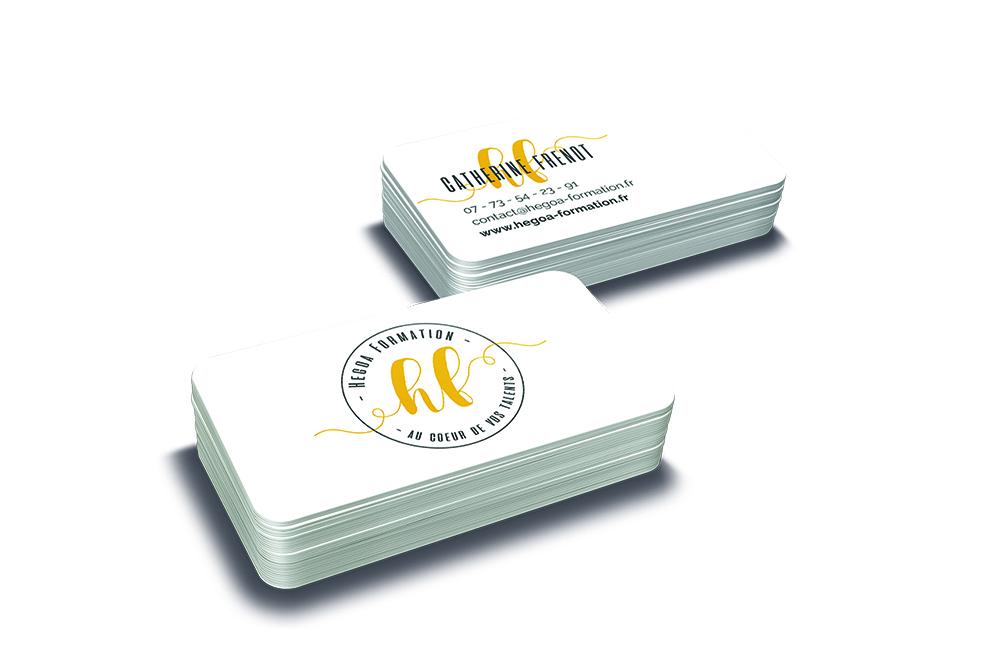 HEGOA FORMATION carte de visite et logo