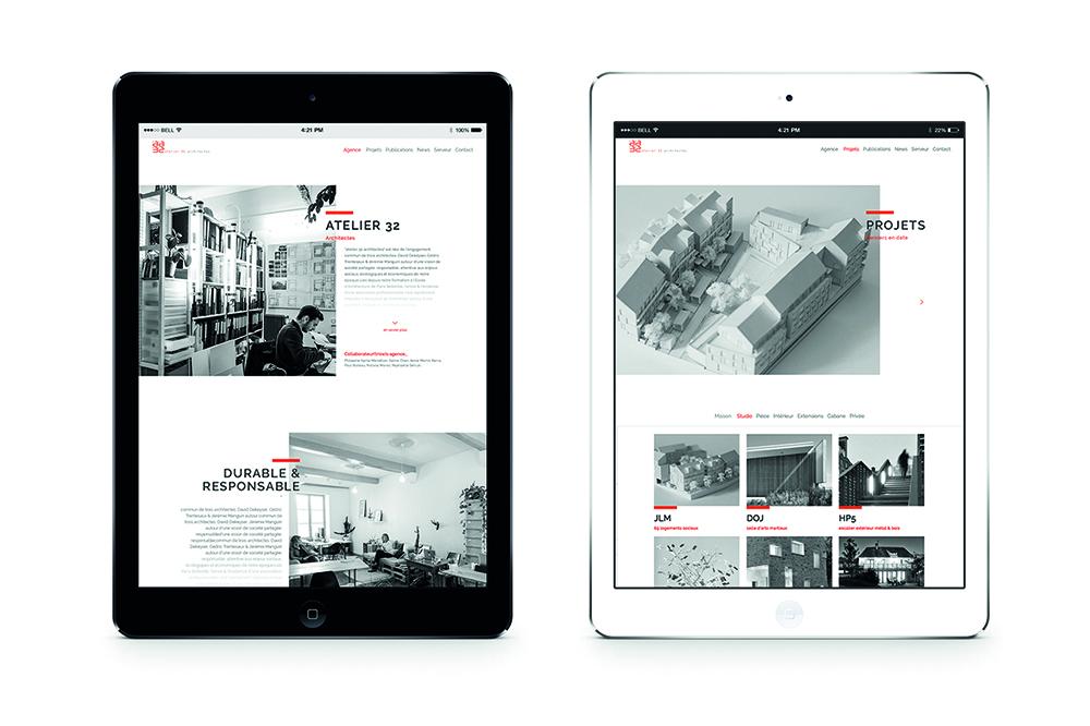 Atelier 32 Architect webdesign