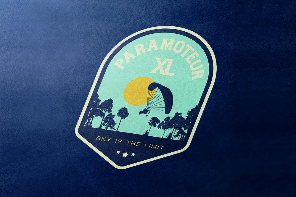 création d'un logo pour XL paramoteur dans les landes par Makhila communication à Bayonne