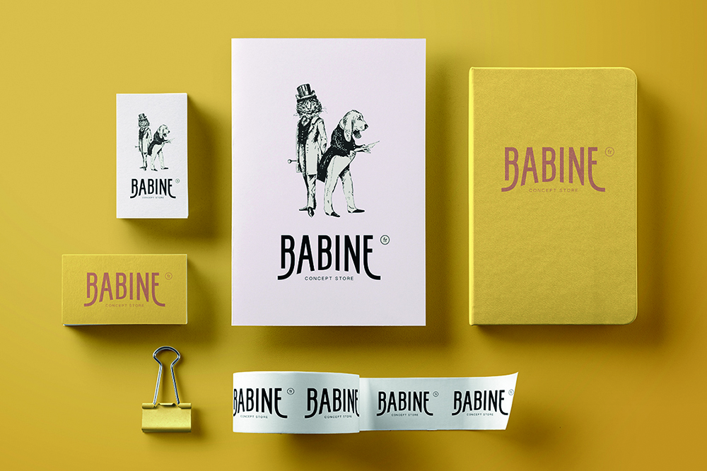 charte graphique Babine concept store Canin