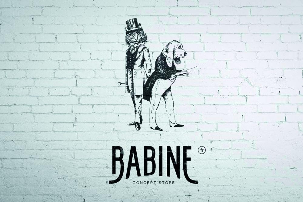 babine concept store canin création de logo