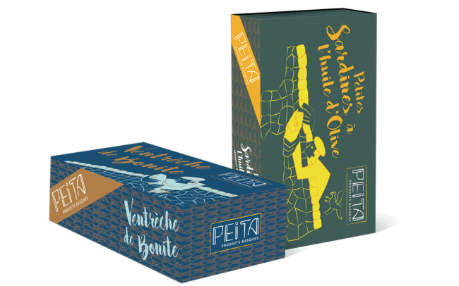Packaging Peita produits Basques