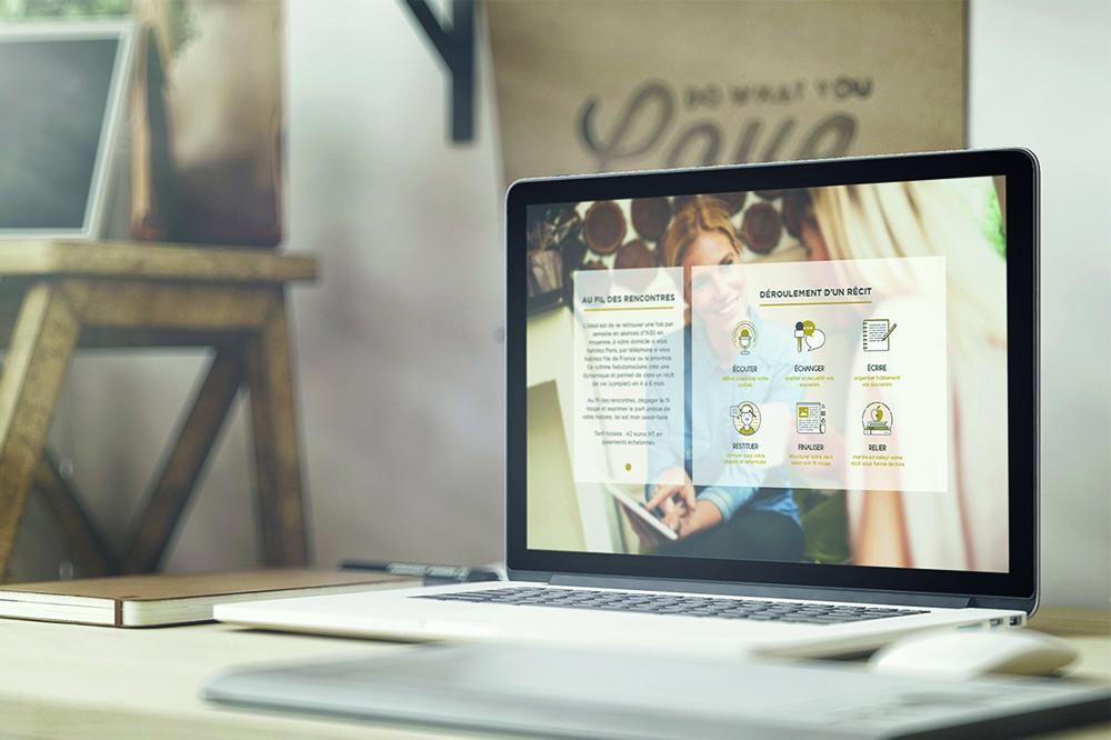 Parole et plume webdesign